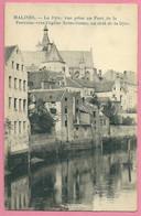 C.P. Mechelen  =   De  Dyle  Vue Prise Au Pont De La Fontaine Vers L' Eglise N.D.  Au  Delà  De La Dyle - Mechelen