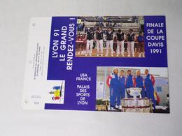 Feuillet Timbre 1er Jour PTT Du Rhône-final De La Coupe Davis 1991 - 1990-1999