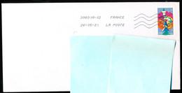 """Timbre Postal Adhésif (2020) """"Mon Spectaculaire"""" Seul Sur Lettre - 1961-...."""