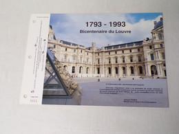 Feuillet Timbre 1er Jour-La SODOP-bicentenaire Du Louvre-1993 - 1990-1999
