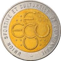 France, Ecu, Euro Des Villes, 1994, Pessac, SUP, Bi-Metallic - France