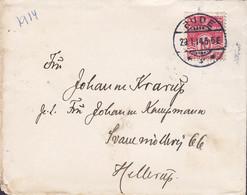 Denmark Brotype Ia RUDE 1914 'Petite' Cover Brief Svanemøllevej 66 HELLERUP (Arr. Brotype Ia Cds.) (2 Scans) - Unclassified