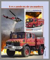 DJIBOUTI 2021 MNH Fire Engines Feuerwehr Fahrzeuge Camions De Pompiers S/S - OFFICIAL ISSUE - DHQ2122 - Bombero