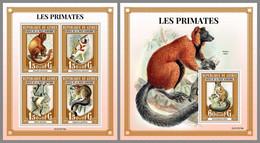 GUINEA REP. 2021 MNH Primates Monkeys Affen Singes M/S+S/S - OFFICIAL ISSUE - DHQ2122 - Mono