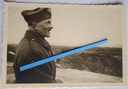1939 1940 Commandant D'infanterie 1er Régiment Drôle De Guerre Front France  Tranchée Poilu Photo Ww2 - Guerra, Militari