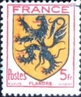 République Française - France - P5/8 - (°)used - 1944 - Michel 615 - Wapen Van Vlaanderen - Usados