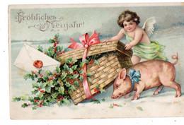 43523-ZE-FETE-Frôliches Neujahr !-----------------cochon--------affranchissement Allemand - Nieuwjaar