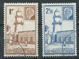 Cote Des Somalis YT N°191/192 Maréchal Pétain Et Mosquée De Djibouti Oblitéré ° - Used Stamps