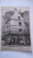 Carte Postale ( GG4 ) Ancienne De Paris , Menu Derriére , Auberge  A LA COMETE DE 1811 , 42 Rue Vaugirard - Otros