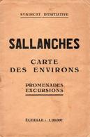 (27/05/21) 74-CARTE TOURISTIQUE DE RANDO - SALLANCHES - Sallanches
