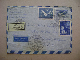 AUSTRIA - LETTER SENT FROM WAIZENKIRCHEN TO THE USA IN 1955 IN THE STATE - 1945-60 Lettres