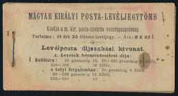 ** 1900 Turul 35f 4 Lapot (24 Bélyeget) Tartalmazó Teljes Bélyegfüzet Enyhén Elszíneződött Felső Borítóval, Egyébként Ki - Unclassified