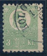 O 1871 Kőnyomat 3kr Elfogazott Bélyeg Enyhe Elvékonyodással, Egyébként Szép állapotban (140.000) Nice Stamp, Thin Paper. - Unclassified