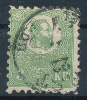 O 1871 Kőnyomat 3kr  (140.000) Sign: Pfenninger (átlós Törés / Diagonal Fold) - Unclassified