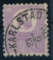 """O 1871 Jó Minőségű Sötétibolya Kőnyomat 25kr """"(KARLOVAC)-KARLSTADT VEC"""" Helybélyegzővel (135.000-225.000) Sign: Diena - Unclassified"""