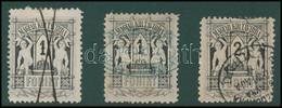 O 1874 Távírda Réznyomat 2 Db 1Ft + 2 Ft Bélyeg Ritka 9 1/2-es Fogazással, Különböző érvénytelenítésekkel (115.000) - Unclassified