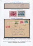 1956 Expressz Levél Kossa Istvánnak Címezve, Sopron 8f + 60f + 2Ft Bérmentesítéssel, Két Bélyegen A Felülnyomás Eltolódo - Unclassified