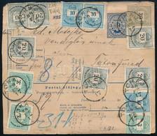 1889 Csomagszállító 1,89Ft 13 Db Bélyeggel Bérmentesítve Tokajról Tátrafüredre - Unclassified