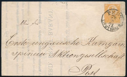 """1871 Helyi Nyomtatvány Kőnyomat 2kr Bérmentesítéssel, """"PEST / LIPÓTVÁROS"""" (60.000) - Unclassified"""