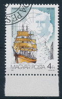 O 1987 Antarktiszkutatás ívszéli 4Ft Fekete Színnyomat Nélkül / Mi 3911 Margin Piece, Black Colour Print Omitted - Unclassified