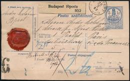 1882 Szállító Levél Párizsba Küldve, Ahol A Kiszámított Díjat A Határon Módosították (külföldre Küldött Szállítólevelek  - Unclassified