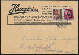 1945 (2. Díjszabás) Nyomtatvány Kisegítő 30f/30f + 10f/4f Bélyeggel, Utóbbi FORDÍTOTT FELÜLNYOMÁSSAL! Levélen Rendkívül  - Unclassified