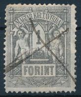 O 1873 Kőnyomat Távírda 1Ft Tollvonásos érvénytelenítéssel (55.000) (törés, Rövid Sarokfog/ Folded, Short Corner Perf.) - Unclassified