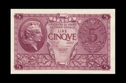# # # Italien 5 Lire 1944 UNC # # # - 50 Liras