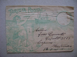 ARGENTINA - LETTER (TARJETA POSTAL) SENT FROM BUENOS AIRES TO MONTEVIDEO (URUGUAY) IN 1928 IN THE STATE - Lettres & Documents