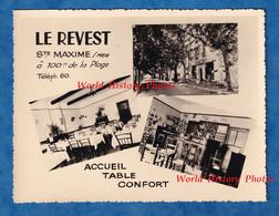 Photo Ancienne Publicitaire -  SAINTE MAXIME Sur MER - Restaurant LE REVEST - Extérieur & Intérieur - 100 M De La Plage - Lugares