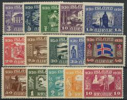 Islande (1930) N 123 A 137 (charniere) - Ongebruikt