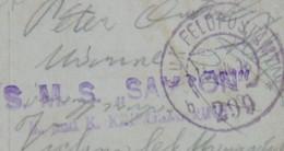132 Austria KuK Kriegsmarine Navy Ship Schiff SMS Stamp Stampel Pola S.M.S. SAMSON Dampfer Donau Schwarzen Meer - SO Solothurn