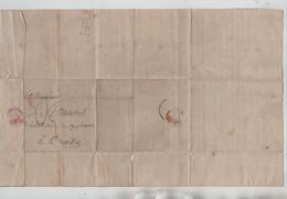 REF4354/  Précurseur De 1842 C.Charleroi 1842 Port 3 > Bruxelles - 1830-1849 (Independent Belgium)