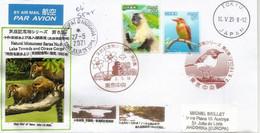 Fauna From Lake Towada & Oirase River (Honshu),2021, Letter From Tokyo Sent To Andorra, W/arrival Postmark - Brieven En Documenten