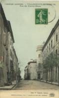 07*Ardèche* - Villeneuve De Berg - Rue Du Cheval Blanc (colorisée) Ardèche Illustrée - Other Municipalities
