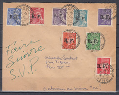 Brief Van Maisons Calvados R.F. Naar Paris - Liberation