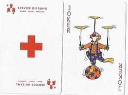 PLAYING CARDS/CARTES À JOUER/1 JOKER/DOS DE CARTE SERVICE DU SANG/ - Altri