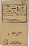 France 1931 Postal Cheque Cover Check Advertisementstapler And Typewriter - Cartas