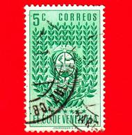 VENEZUELA - Usato - 1952 - Stemma Dello Stato Di Trujillo - Arms - 5 - Venezuela