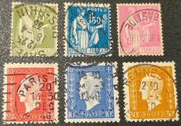 Lot N° 284A/288/396/693/682/683  Avec Oblitération Cachet à Date D'Epoque  TB - Used Stamps