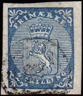 Norwegen Wappen Nr.1  Nr-Stempel Nicht Lesbar Norway Norvege Noruega - Used Stamps