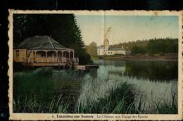 CP (Lacuisine Sur Semois: Le Château Aux Etangs Des Epioux) Obl. Libramont 1943 + Griffe De FLORENVILLE - Griffes Linéaires