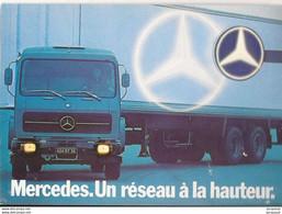 Transports Automobile Camion Mercedes Un Réseau à La Hauteur - Vrachtwagens En LGV