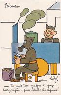 AK Précaution - Soldate Mit Gasmaske Beim Zwiebelschälen - Humor (56458) - Humour