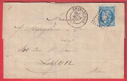 N°46B GC 898 CHARLEVILLE ARDENNES POUR LYON - 1849-1876: Periodo Classico
