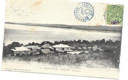 Madagascar Circulated Postcard Analalava 1908 Blue Cancel - Brieven En Documenten