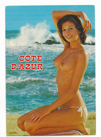 CP Pin Up Sur La Plage Seins Nus - Côte D' Azur French Riviera Nice Ed Gilletta - Pin-Ups