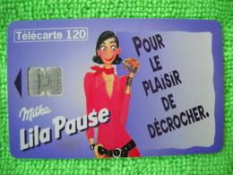 7073 Télécarte Collection MILKA Lila Pause (chocolat) 120u  ( Recto Verso)  Carte Téléphonique - Alimentazioni