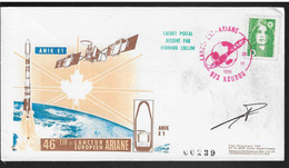 FDC (61) Ariane Guyane Kourou V46 (tache) - Europe