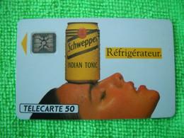 7078 Télécarte Collection Boisson  SCHWEPPES Sport Club  50u Réfrigérateur  ( Recto Verso)  Carte Téléphonique - Alimentazioni